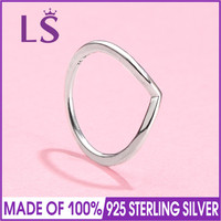 LS Hot Sale High Quality Real 925 Silver Shining Wish Ring with Clear For Women Gift Compatible with Original Jewelry W