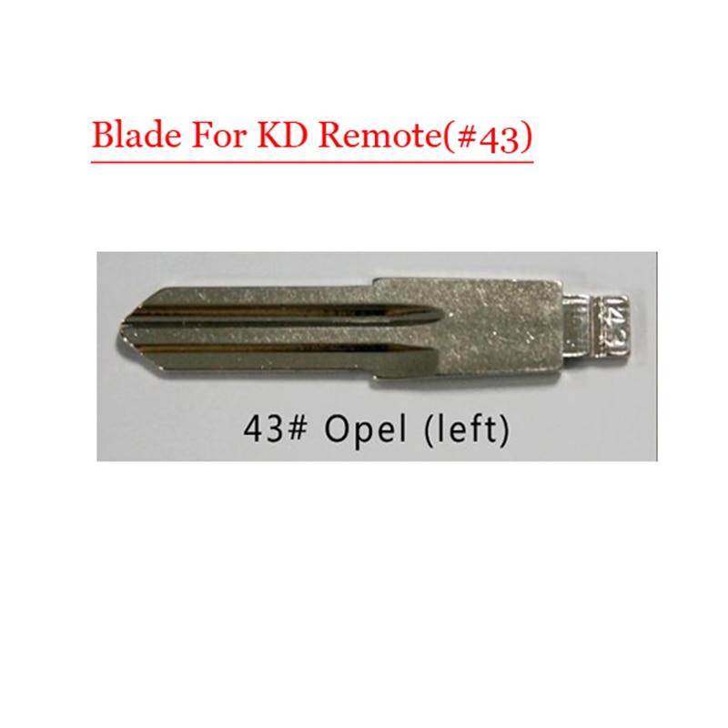Free shipping (10 pcs/lot)Metal Blank Uncut Flip KD Remote HU46 Key Blade Type #43 for Opel free shipping 10 pcs lot metal blank uncut flip kd remote key blade type 50 for hyundai tucson