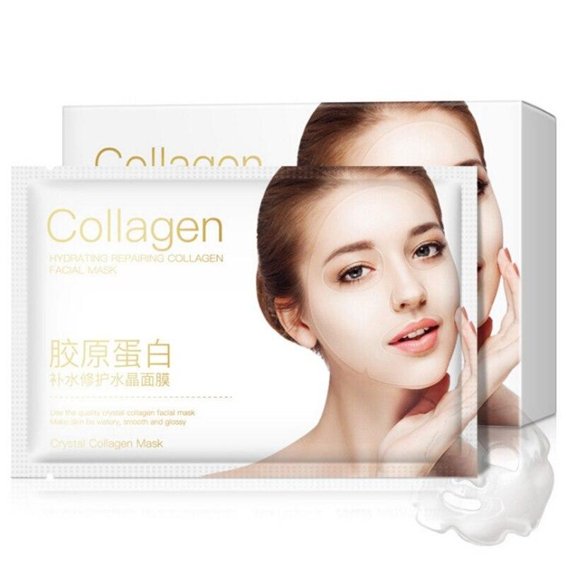 5 pièces masque collagène efficace hydratant rétrécissement Pores raffermissant peau cristal Transparent masque naturel
