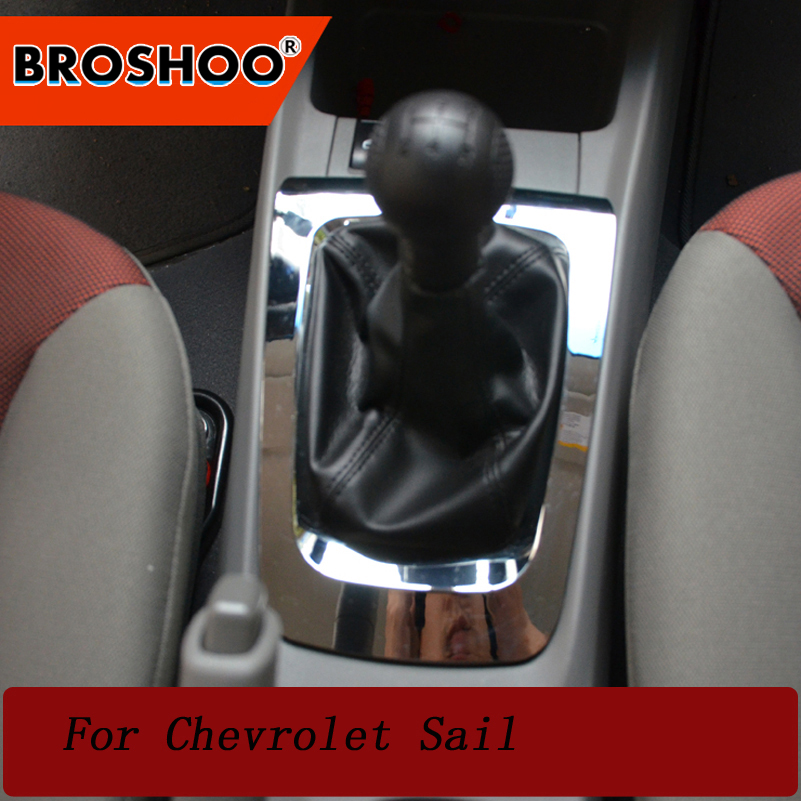 BROSHOO Auto Accessories Car Gear Panel 3D Interior Sticker Cover Interior Decoration Trim Car Styling For Chevrolet New Sail