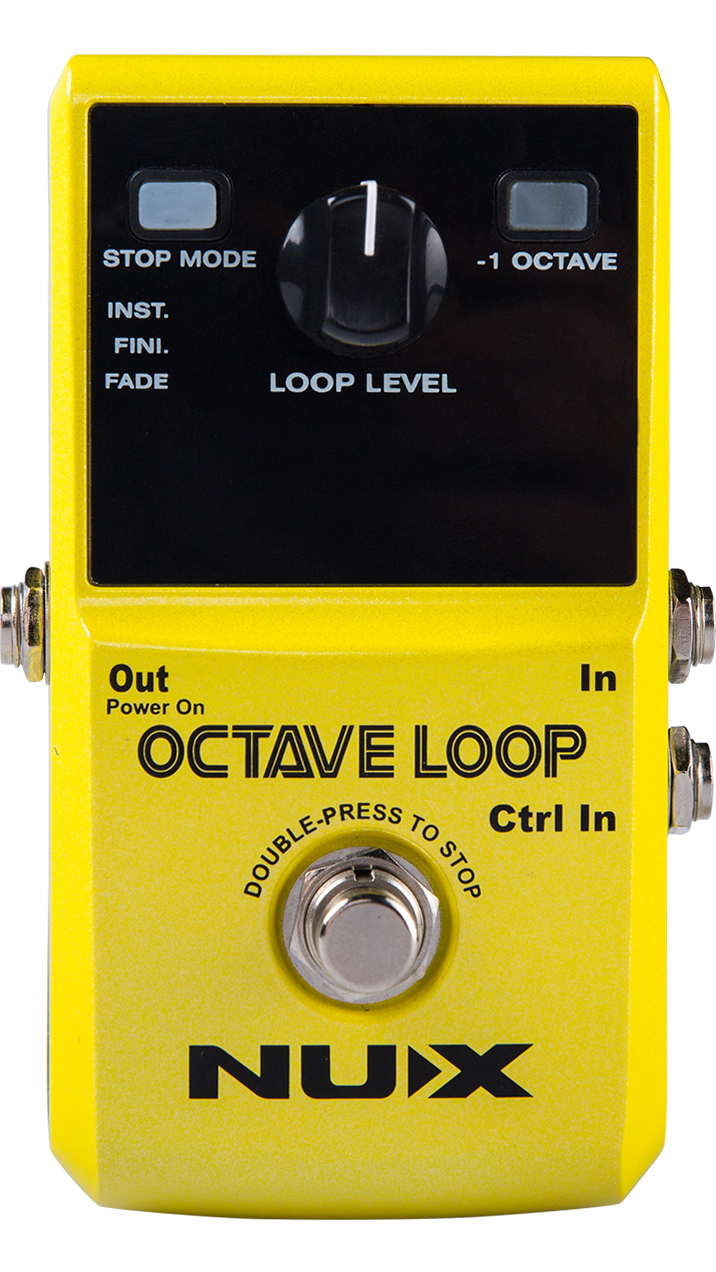 Nux Octave Loop Looper Pedal with -1 Octave Effect *FREE Bonus Pedal Case* nux octave loop guitar pedal looper 5 minutes recording time electric bass built in octave effect accessories