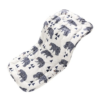 Foldable Cotton Baby Seat Liner Stroller Seat Mat Breathable Cushion Pad For Car Seat High Chair Pushchair Warm Mattresses 45cm round shape cotton linen cushion pad yoga mat tatami floor window chair seat mat