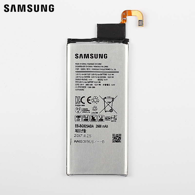 Samsung Original Replacement Battery EB-BG925ABE For Samsung GALAXY S6 Edge G925F G925S S6Edge G925V G9250 G925FQ G925A 2600mAh