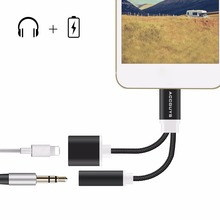 ACCGUYS For Lighting to 3.5mm Jack 2 in 1 Charging Audio Adapter Earphone Headphone Audio Converter for Apple iPhone 7 / 7 Plus