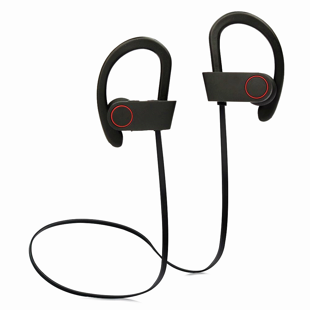 Bluetooth 4.1 Headphone Stereo Running Sports Ear-hook IPX4 Waterproof Headset with Mic For iPhone Samsung Handsfree Earphone gookee q9 ipx4 waterproof running ear headset stereo sport earphone wireless bluetooth headphone for mic for iphone android