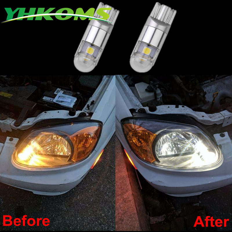 YHKOMS T10 Dome Light Reading Bulb Wedge 3030 SMD 3 Chips 194 Puddle Lamp Canbus Car Door LED White 200lm 12V Constant Current in Signal Lamp from Automobiles Motorcycles
