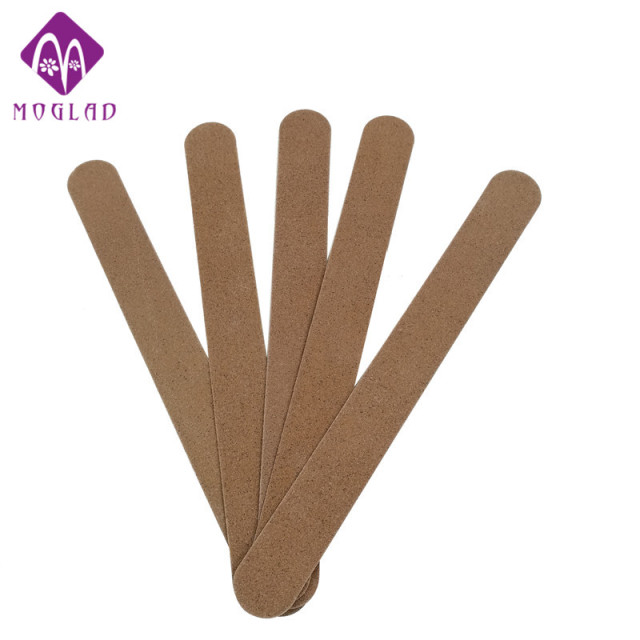 New Arrive 5pcs Lot Professional Art Nail File Buffers Brown Wood Double Buffing Grit