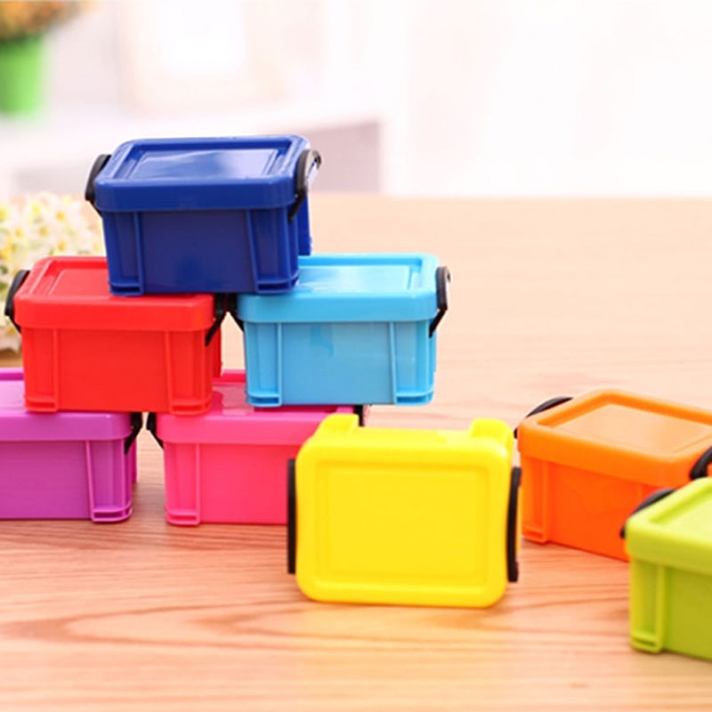 COCODE Home Furnishing Mini Lock Box Candy Color Storage Box Table