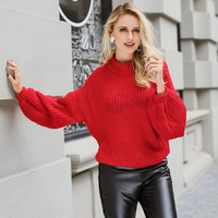Lily Rosie Girl Fashion Turtleneck Women Sweaters Autumn Knitted Full Full Sleeve Sweater Oversize Pullovers Jumpers