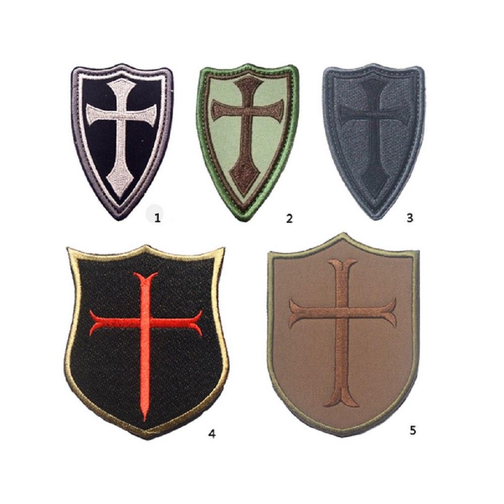 Vysoce kvalitní 3D 100% vyšívací záplaty Rytířský kříž jundun magic seal seal / DEVGRU patches Cross jundun in seals patch