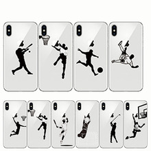 Phone Cover Baseball Football Soccer Tennis Golf Sports Athlete Soft Silicone Cases for Iphone 11 6 6S Plus 7 8 X XR