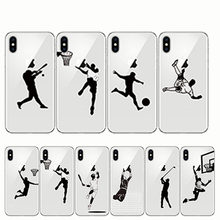 Phone Cover Baseball Football Soccer Tennis Golf Sports Athlete Soft Silicone Cases for Iphone 11 6 6S Plus 7 8 Plus X XR(China)