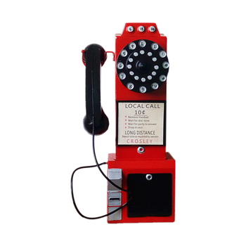 New Old Iron Antique Telephone Model Ornaments European Retro Telephone Miniature Home Decoration Wall Hanging Crafts Toy Gifts telephony