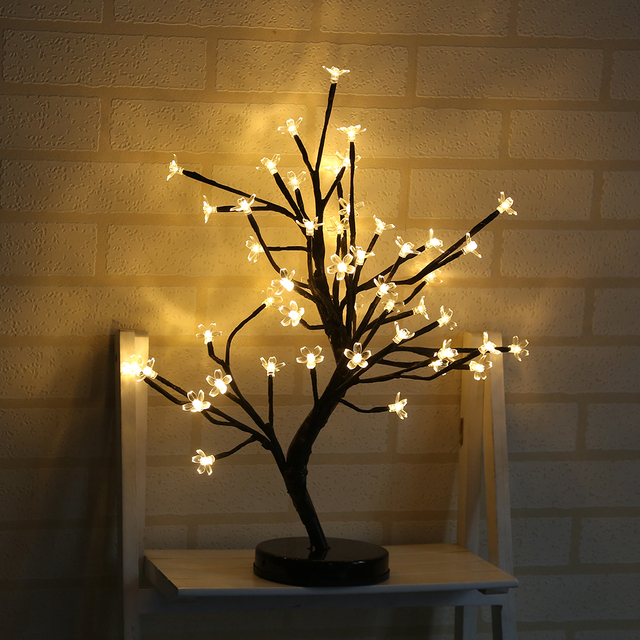 48 Heads Blossom Tree Night Lights Living Room Novelty Plum Lamp LED Rose Lamps Decoration T02