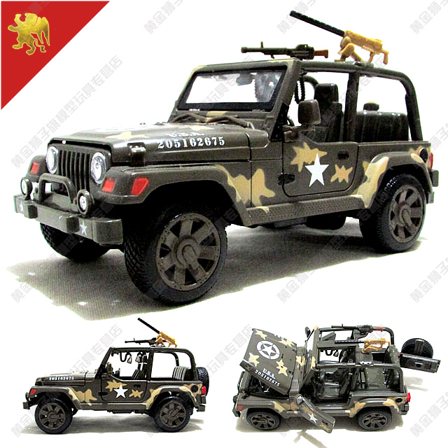 New Us Military Jeep 1 24 Jeep Wrangler Assault Alloy Suv Model Kid