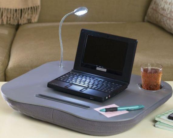 Led Light Portable Computer Desks Cushion Mat Laptop Table