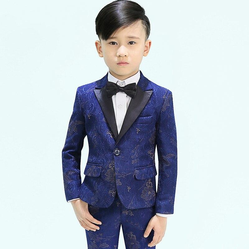 Kids formal suits long sleeve flower girl dress 2019 new boy children suit wedding party dress