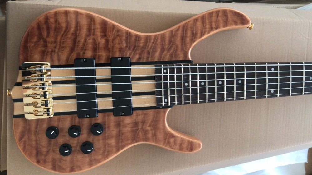 free shipping 5 string active bass 6 string S bass