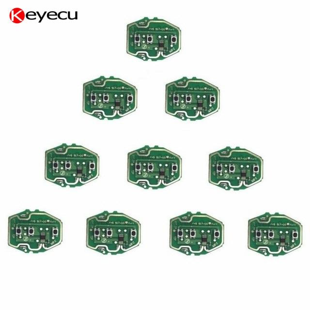 Keyecu 10PCS/lot EWS Remote Control Circuit Board for BMW 3 Button Adjustable Frequency 315/433MHz W/O
