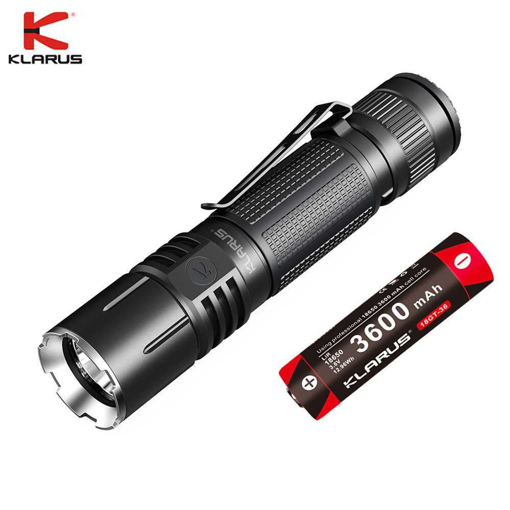 Klarus 360X1 Led Flashlight CREE XHP70.2 1800lm Tactial USB Rechargeable Flashlight  With 3600mAh Battery For Search & Rescue