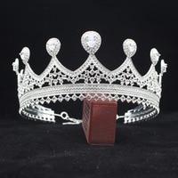 Adjustable Zirconia Queen Bridal Tiara Crowns Bride Headbands Women Prom Diadem Headpiece Wedding Bride Hair Jewelry Accessories