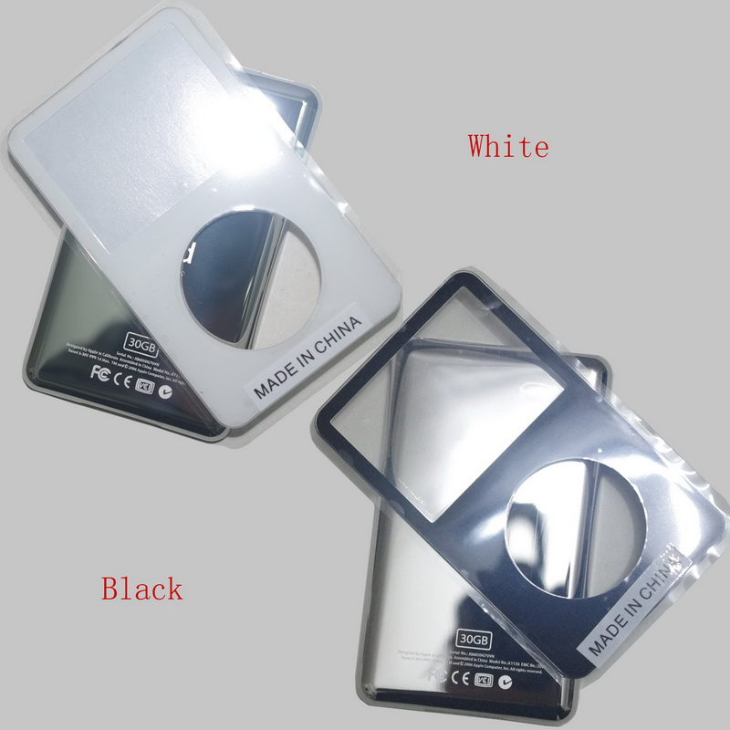 For iPod video Black White 30GB 60GB 80GB back cover + front cover case