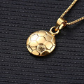 New style Fashion Jewelry Neutral Gold Plated Men Luxury Long Choker Necklaces & Football Pendants for Women Girls Gift Friend