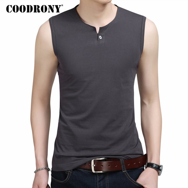 COODRONY Slim Fit Tank Top Men Sleeveless T Shirt Men 2018 Spring Summer  New Arrival Cotton e4142fa95775