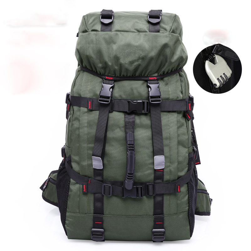 Large Capacity Military Backpack Men Oxford Fabric Knapsack Waterproof Trekking Bag Travel Rucksack Code Lock Include laoa shoulders backpack tool bag multiction oxford fabric electrician bags knapsack for eletricista tools storage