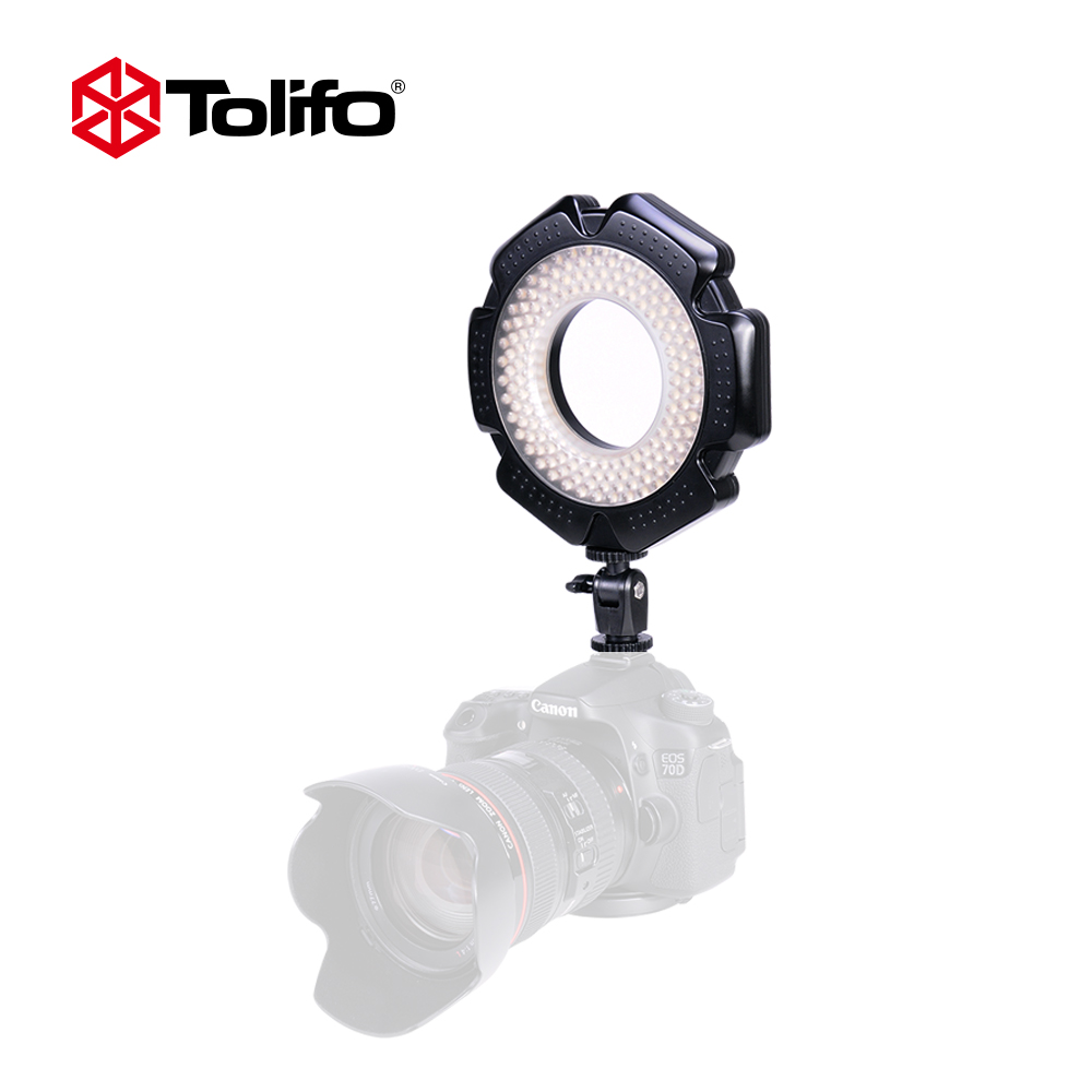 Tolifo R-160S 160 Ultra Thin Led Video Light LED Ring Light For Macro Photography Dimmable Digital Camera Camcorder Nikon Video travor 2 in 1 photography 160 led studio lighting kit dimmable ultra high power panel digital camera dslr camcorder led light