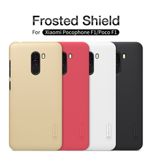 For xiaomi Pocophone F1 Cover case Nillkin Frosted PC hard plastic back shell cover case + Screen Protector For Poco F1 case for xiaomi pocophone f1 case slim skin matte cover for xiaomi f1 pocophone f1 case xiomi hard frosted cover xiaomi poco f1 case