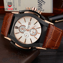 BADACE Роскошные Топ брендовые кварцевые часы мужские s отображение даты часы мужские часы спортивный кожаный ремешок наручные часы Relogio Masculino 2188