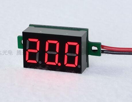 100pcs 0.36inch Digital Voltmeter Red LED Amp Digital Gauge Voltage Meter DC4.5 30V Voltage Indicator two wires 33*15*10mm-in Voltage Meters from Tools    1