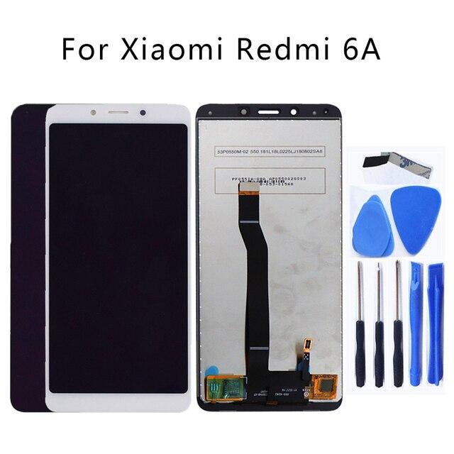 Voor Xiaomi Redmi 6 LCD Touch Screen Digitizer Vervanging voor Redmi 6A Display Glass Panel Telefoon Onderdelen Gratis Tool + gratis Verzending