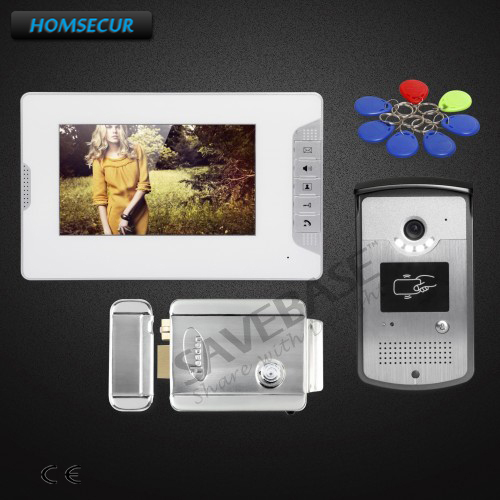 HOMSECUR 1v1 7inch Wired Video Door Entry Phone Call System Electric Lock with Keys Included with Russian Local Delivery вебкамера defender g lens 2693 63693