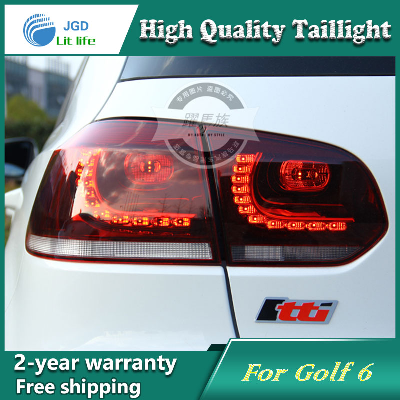 ФОТО Car Styling Tail Lamp for VW Golf 6 Golf6 Tail Lights LED Tail Light Rear Lamp LED DRL+Brake+Park+Signal Stop Lamp