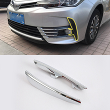 ABS Chrome Exterior front foglight  Cover Trim For TOYOTA COROLLA 2017 car accessories car body kits front foglight trims car sticker for honda civic 2017 abs chrome