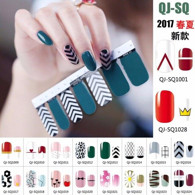 28pcs 2 Sheet 28 Type Spring Summer Nail Wraps Full Sticker Designs