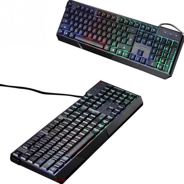 Schwarz 104 tasten Ergonomic design Gaming Tastatur USB Verdrahtete ...