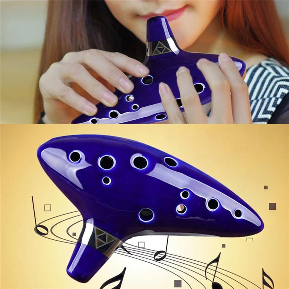 12 Hole Ocarina Instrument Keramische Alto C Legend Of Zelda Ocarina Flute With Cord Hand rope Music Instrument Hot Sale