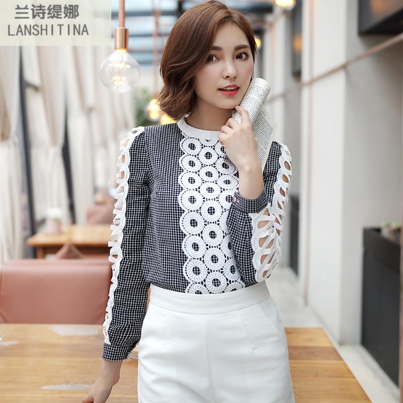 Women Blouses 2016 Multicolor V-Neck Long Sleeve Crochet Top Blouse Plus Size Kimono Blusa Camisa Feminina Shirt Tops PF40232