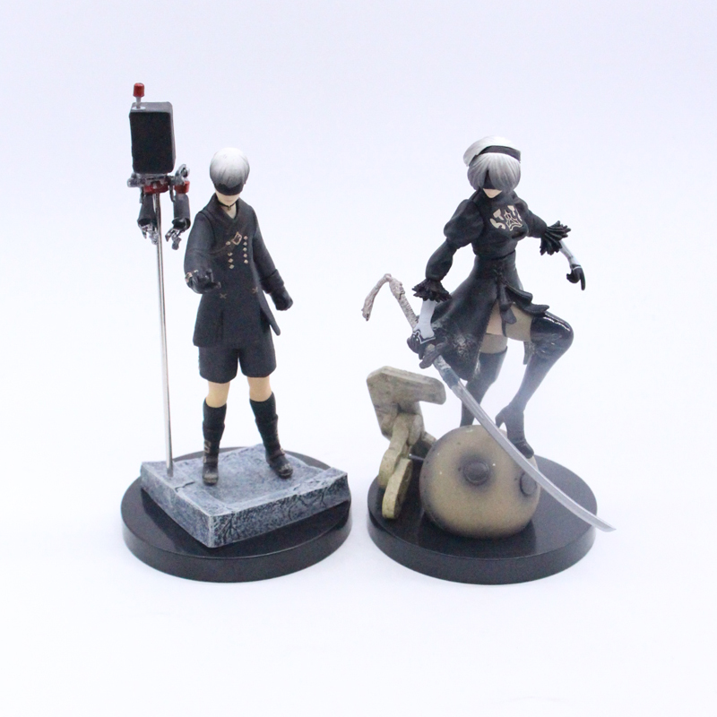 Game NieR Automata YoRHa No. 2 Type B 2B & 9S Cartoon Toy Action Figure Model Toys Doll