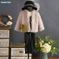 2017 winter new children and girls fashion ladies fashion European and American style velvet thick short jacket