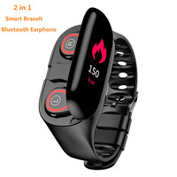 Newest Style M1 2 in 1 Smart Bracelet Watch Bluetooth Earphone Heart Rate Monitor Smart Wristband 15 Days Standbys Sport Watch