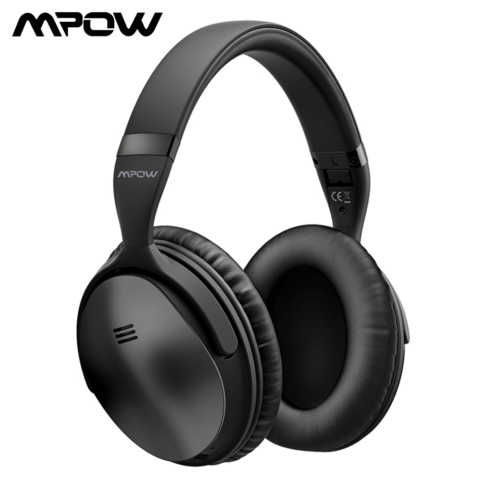 Mpow H5/ H5 2nd Gen Bluetooth Headphones Over-ear ANC HiFi Stereo Wireless Headphone With Mic For iPhone X/8/7 And Android Phone origial mpow h5 2nd generation anc wireless bluetooth headphone wired wireless with mic carrying bag for pc iphone huawei xiaomi