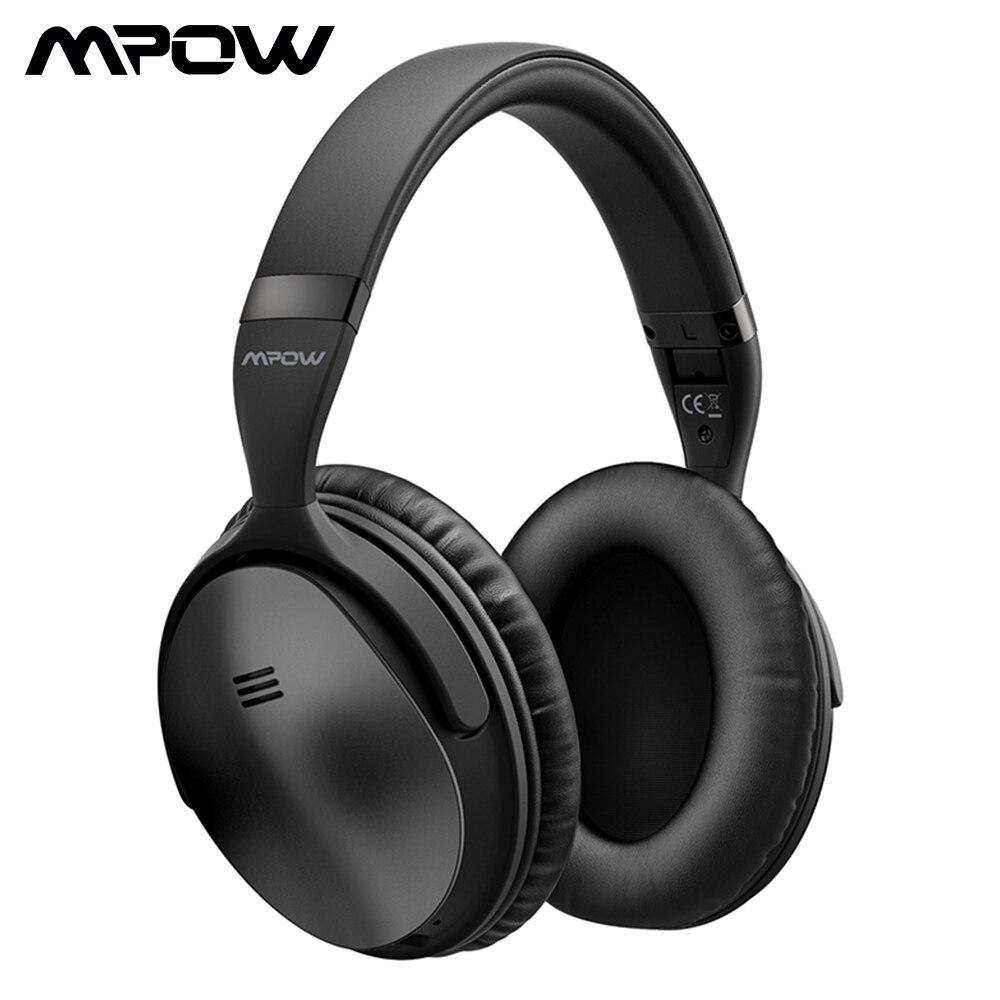 Mpow H5/H5 2nd Gen auriculares Bluetooth de oído ANC HiFi estéreo de auriculares con micrófono para iPhone x/8/7 y teléfono Android