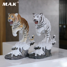 1/10 Snow tiger White Simulation model Northeast Tiger Decoration Crafts  collection Figure toys 27cm with box