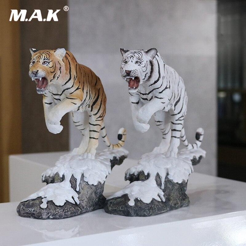 1/10 tigre de neige blanc Simulation tigre modèle nord-est tigre décoration artisanat collection Figure modèle jouets 27 cm avec boîte