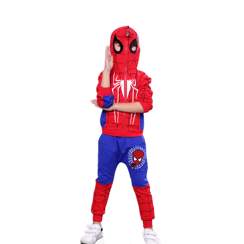 3pcs Spiderman Baby Boys Clothing Sets Cotton Sport Suit For Boys Clothes Spider Man Cosplay Costumes Kids Clothes Set 2 piece set new sport suit for boys cotton baby boy clothing sets hooded kids clothes set long suit boys clothes tracksuit tz001
