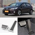Brand New 2pcs Aluminium Non Slip Foot Rest Fuel Gas Brake Pedal Cover For Kia K3S AT 2014